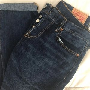 Levi's 501 CT Dark Denim Boyfriend Jeans